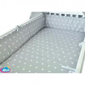 Tríptico Algodón Estrellas Gris/Blanco - 100x135cm